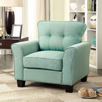 Furniture of America FOA-CM6266BL-CH Claire Transitional Chair, Blue