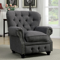 Furniture of America FOA-CM6269GY-CH Stanford Traditional Chair, Gray