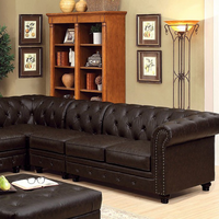 Furniture of America FOA-CM6270BR-CH Chair, Brown Leatherette Brown