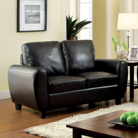 Furniture of America FOA-CM6321BK-LV Hatton Contemporary Love Seat, Black