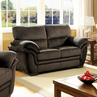 Furniture of America FOA-CM6503DB-LV Jaya Transitional Love Seat, Dark Brown