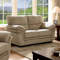 Furniture of America FOA-CM6503LB-LV Jaya Transitional Love Seat, Light Brown