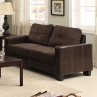 Furniture of America FOA-CM6598DK-L Laverne Contemporary Love Seat, Chocolate