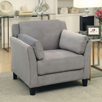 Furniture of America FOA-CM6716GY-CH-PK Ysabel Contemporary Chair, Warm Gray