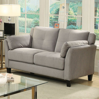 Furniture of America FOA-CM6716GY-LV-PK Ysabel Contemporary Love Seat, Warm Gray