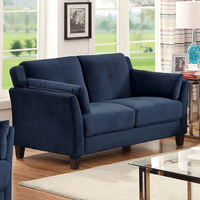 Furniture of America FOA-CM6716NV-LV-PK Ysabel Contemporary Love Seat, Navy