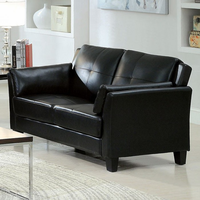 Furniture of America FOA-CM6717BK-LV-PK Pierre Contemporary Love Seat, Black