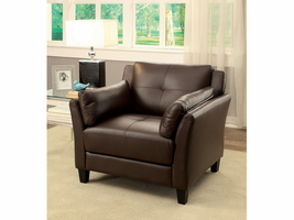 Furniture of America FOA-CM6717BR-CH-PK Ysabel Contemporary Chair, Brown