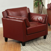Furniture of America FOA-CM6717RD-CH-PK Pierre Contemporary Chair, Mahogany Red