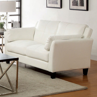 Furniture of America FOA-CM6717WH-LV-PK Pierre Contemporary Love Seat, White