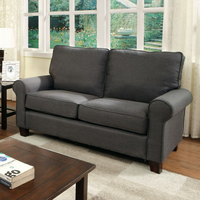 Furniture of America FOA-CM6760GY-LV Hensel Transitional Love Seat, Gray