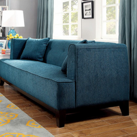 Furniture of America FOA-CM6761TL-LV-PK Sofia Transitional Love Seat, Dark Teal