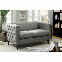 Furniture of America FOA-CM6780GY-LV-SET Emer Contemporary Love Seat, Gray