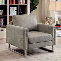 Furniture of America FOA-CM6855-CH Chair Pewter