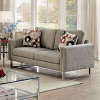 Furniture of America FOA-CM6855-LV Love Seat Pewter