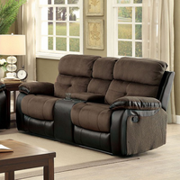Furniture of America FOA-CM6870-LV Love Seat Brown/Espresso