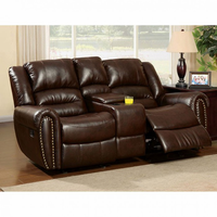 Furniture of America FOA-CM6960L-CT Dundee Transitional Love Seat w/ Center Console