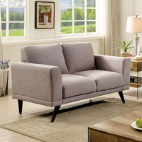 Furniture of America FOA-CM6977GY-LV Janie Mid-Century Modern Love Seat, Gray