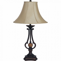 "Furniture of America FOA-L731118-2PK 12""H Table Lamp Espresso"