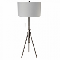 Furniture of America FOA-L731171F-SV Zaya Contemporary Floor Lamp