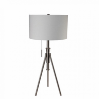 Furniture of America FOA-L731171T-SV Zaya Contemporary Table Lamp