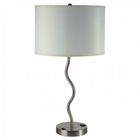 Furniture of America FOA-L76224T-WH-2PK Sprig Contemporary Table Lamp (2/ctn)