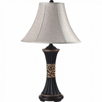 "Furniture of America FOA-L78173-2PK 11""H Table Lamp Espresso/Gold Pattern"