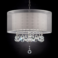 "Furniture of America FOA-L9149H 19""H Ceiling Lamp Silver"