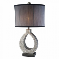"Furniture of America FOA-L9249T 19.75""H Table Lamp Silver"