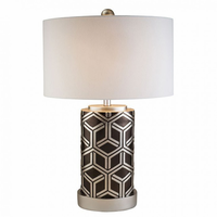 "Furniture of America FOA-L9276 29""H Table Lamp Silver"