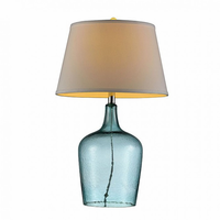 "Furniture of America FOA-L9708 27""H Table Lamp Blue"