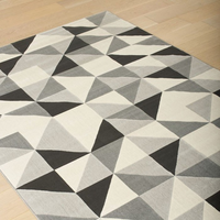 Furniture of America FOA-RG4207 Julien Contemporary 5' X 8' Black Area Rug