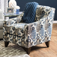 Furniture of America FOA-SM1111-CH Pennington Transitional Chair, Floral Pattern