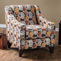 Furniture of America FOA-SM1112-CH Pennington Contemporary Chair, Ogee Pattern