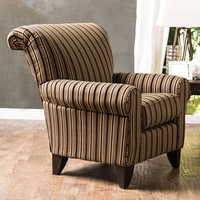 Furniture of America FOA-SM1241-CH Arklow Contemporary Chair, Stripes Pattern