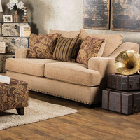 Furniture of America FOA-SM1241-LV Arklow Contemporary Love Seat, Tan