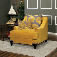 Furniture of America FOA-SM2201-CH Wolver Traditional Chair, Gold