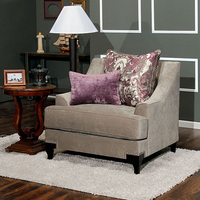 Furniture of America FOA-SM2202-CH Wolver Traditional Chair, Gray