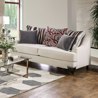 Furniture of America FOA-SM2206-LV Love Seat, White Ivory