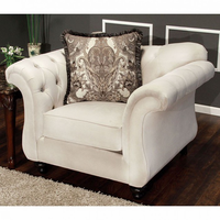 Furniture of America FOA-SM2221-CH Antoinette Traditional Chair, Beige