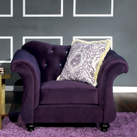 Furniture of America FOA-SM2222-CH Antoinette Traditional Chair, Purple