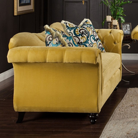 Furniture of America FOA-SM2223-LV Antoinette Traditional Love Seat, Royal Yellow