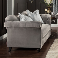 Furniture of America FOA-SM2225-LV Antoinette Traditional Love Seat, Dolphin Gray