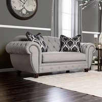 Furniture of America FOA-SM2291-LV Viviana Transitional Love Seat, Gray