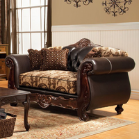 Furniture of America FOA-SM6108N-LV Bonaparte Traditional Love Seat