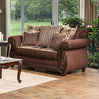 Furniture of America FOA-SM6109-LV Tabitha Traditional Love Seat, Brown