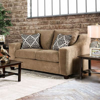 Furniture of America FOA-SM6132-LV Love Seat, Mocha Mocha