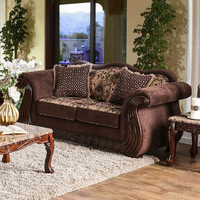 Furniture of America FOA-SM6210-LV Kensett Traditional Love Seat