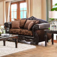 Furniture of America FOA-SM6404-LV Elpis Traditional Love Seat