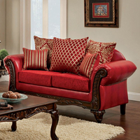 Furniture of America FOA-SM7640-LV Marcus Traditional Love Seat